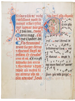 A page of music from a medieval manuscript