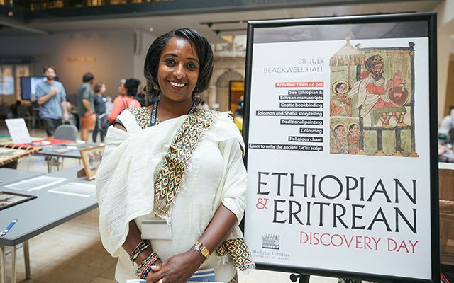 Member of the Ethiopian and Eritrean community at the Weston Library
