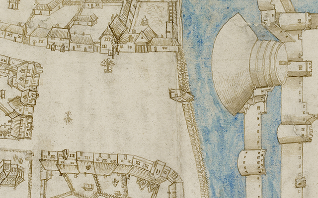 Map of a medieval castle