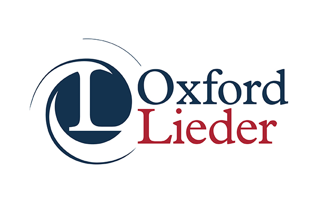 Oxford Lieder logo of an 'L' with a blue background