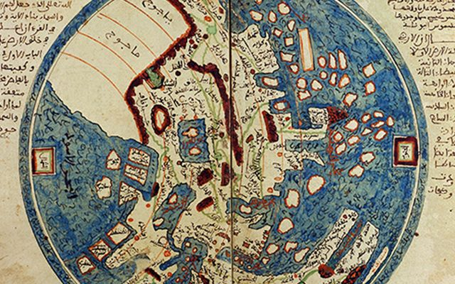 A medieval Islamic map showing the eastern hemisphere