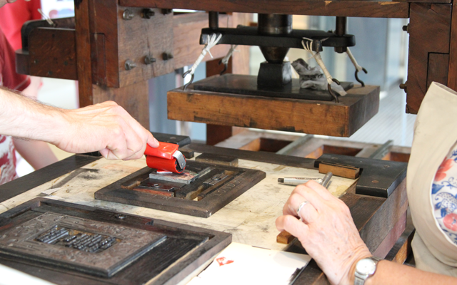 Letterpress printing at the Bodleian Library, Oxford