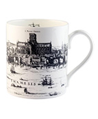 Black-and-white image on a mug