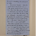 Hand written draft of Wind in the Willows: Mole reports on the fight with the weasels