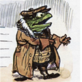 Illustration of Toad of Toad Hall dressed for the road