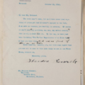 Typewritten letter from Theodore Roosevelt to Grahame with hand-written edits