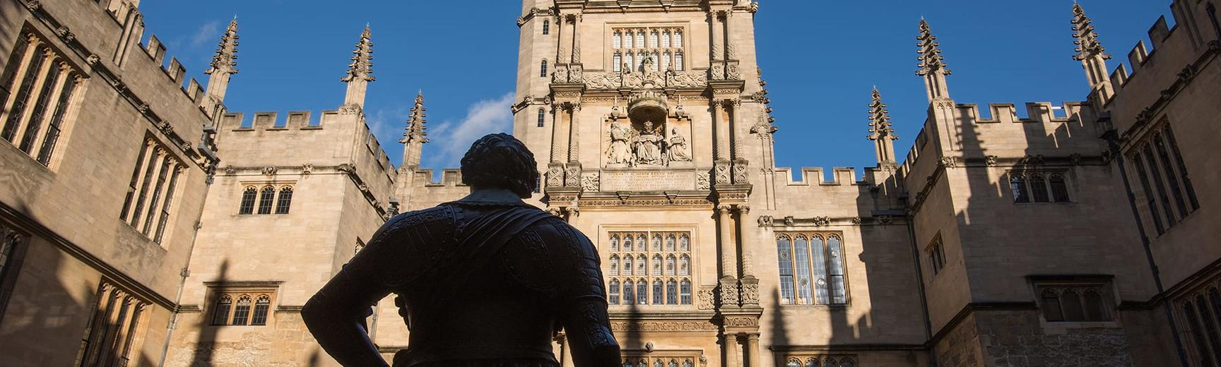 Statue of William Herbert, Earl of Pembroke, in the Bodleian Library Old Schools Quadrangle