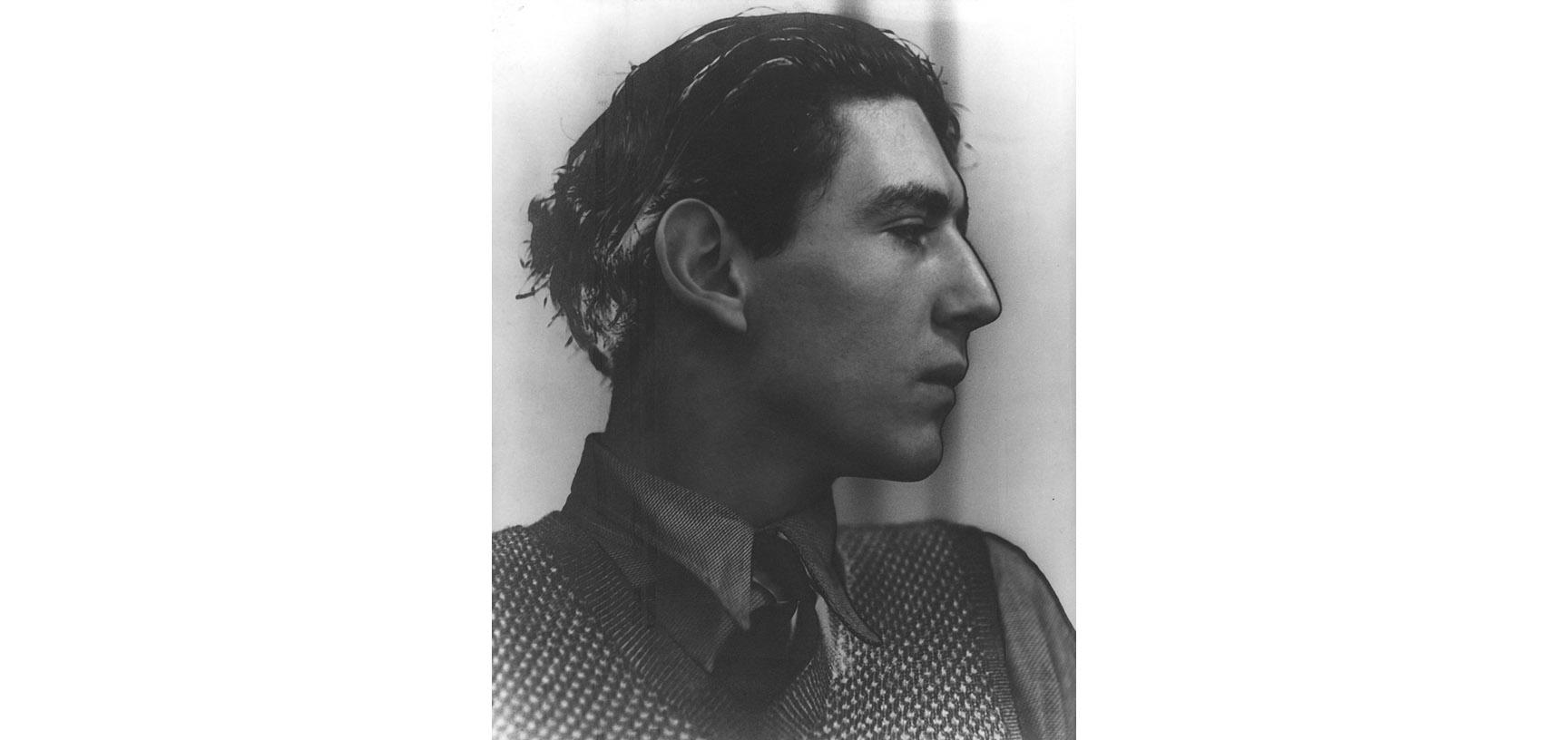 Photograph of a young man - Oliver Zangwell - in profile