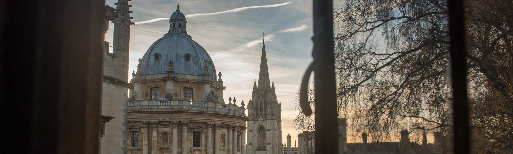 View outside the window on the Radcliffe Camera, Bodleian Library