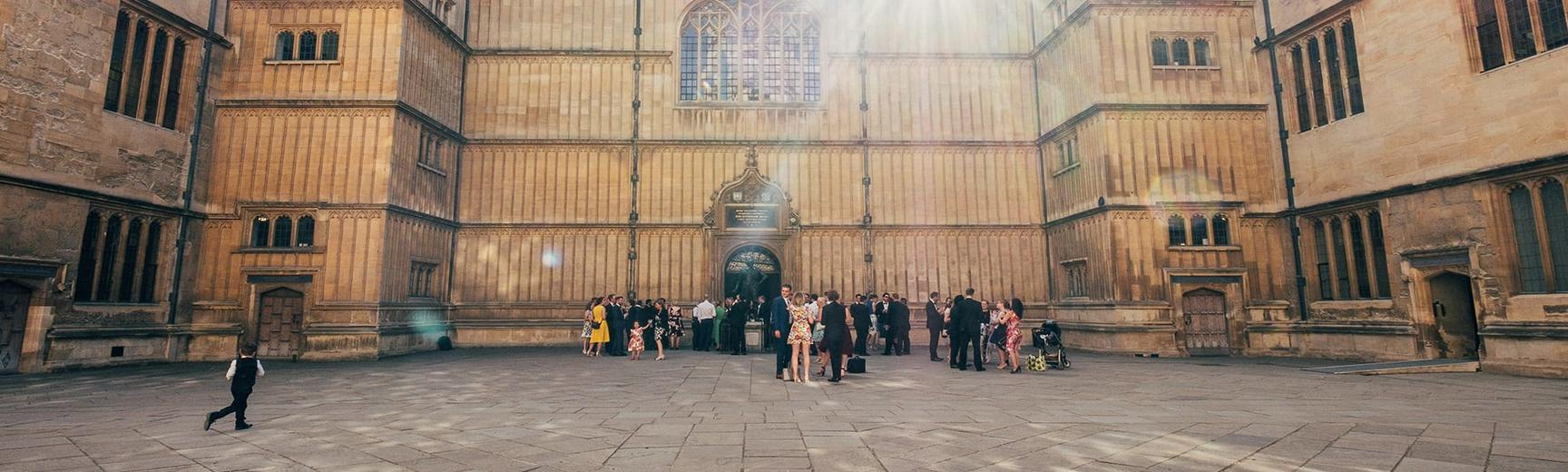 Event at the Old Schools Quadrangle, Bodleian Libraries, Oxford