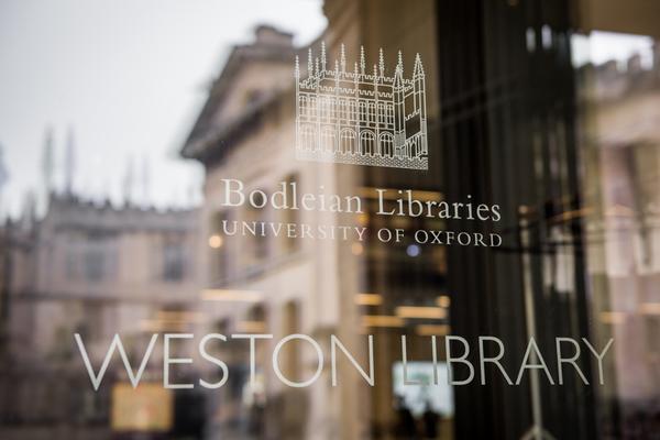 Weston Library entrance door, Oxford