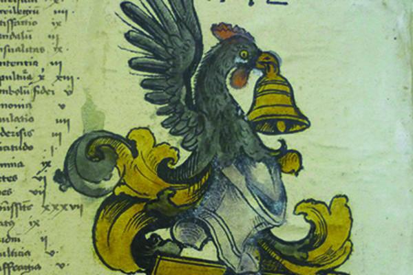 A manuscript illustration of a bird