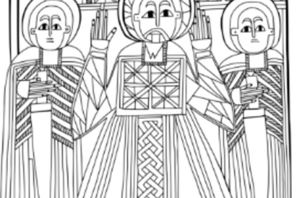 Drawing by Vendi Jukić Buča, based on Bodleian Libraries, Oxford, MS Aeth. e. 28, fol. 1v