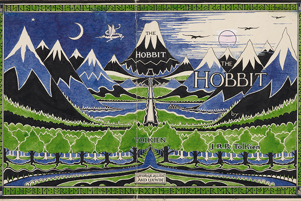 The Hobbit Dust Jacket A3 Art Print