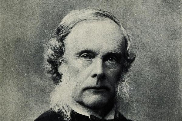 Black and white portrait photograph of Joseph Lister