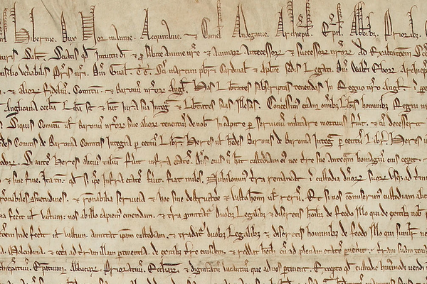 Image of the Latin text of the Magna Carta