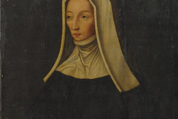 Painting of a nun holding a Bible