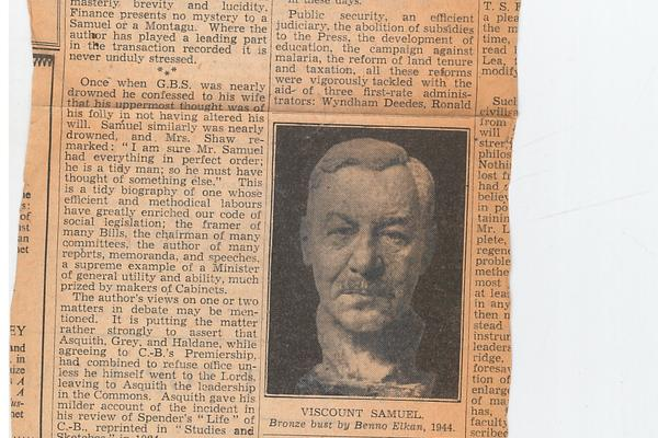 Clipping of a newspaper from 20th century