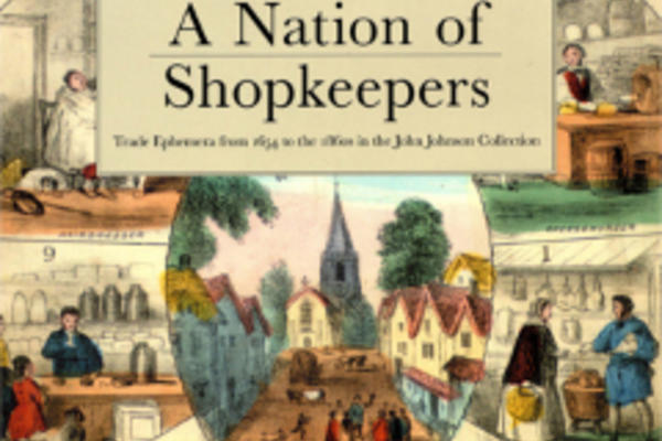 Front cover of a catalogue: 'A Nation of Shopkeepers'