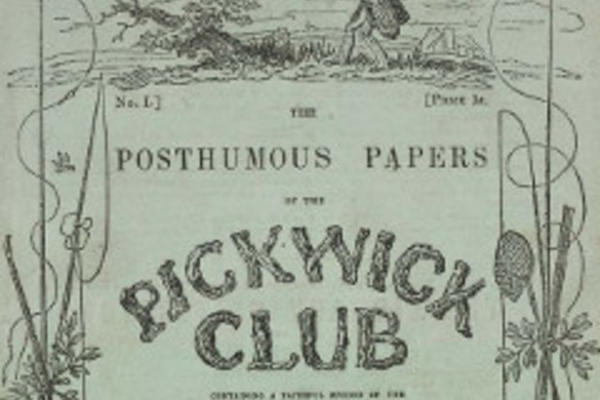Title page of The Posthumous Papers: Pickwick Club
