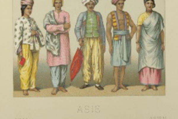 Colour illustration from costume book