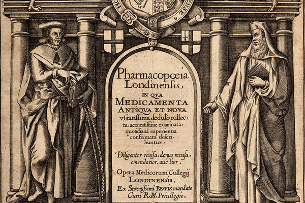 The frontispiece of the Pharmacopoeia Londis