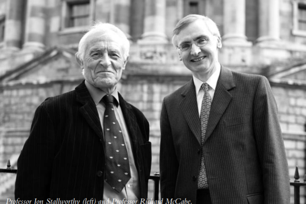 Professor Jon Stallworthy (left) and Professor Richard McCabe