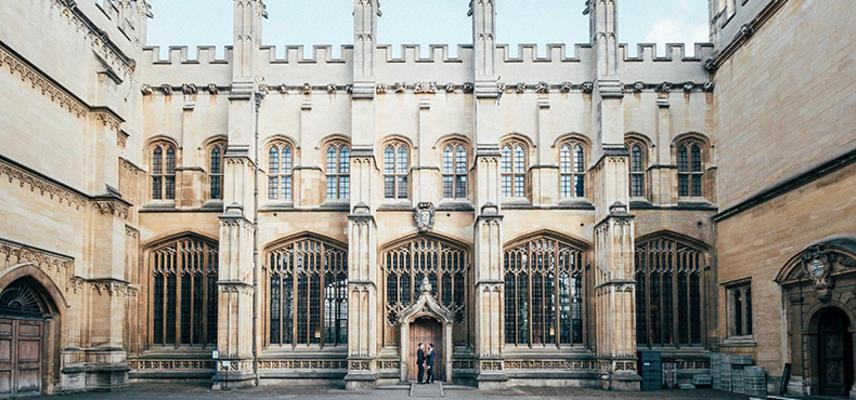 An external view of Divinity School