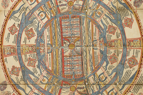 Section of medieval map