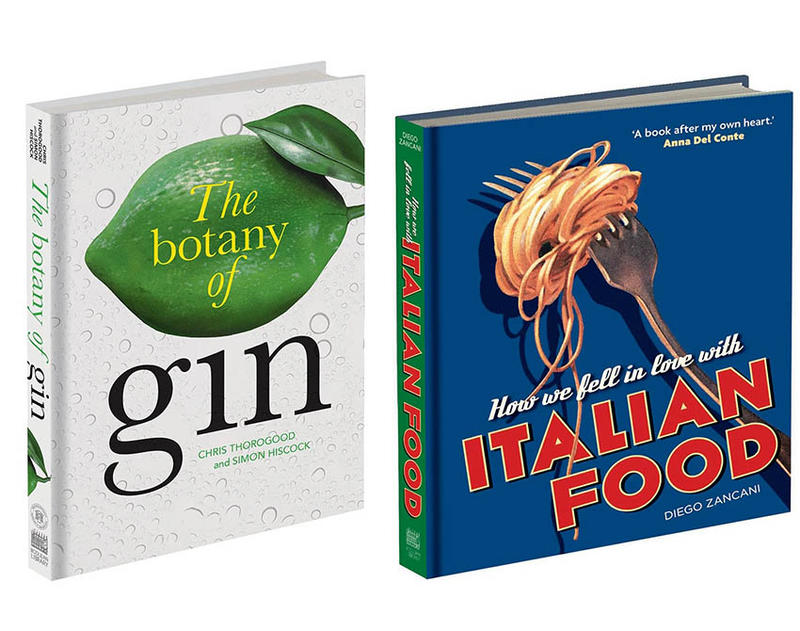 Book covers of The Botany of Gin and How we fell in love with Italian Food
