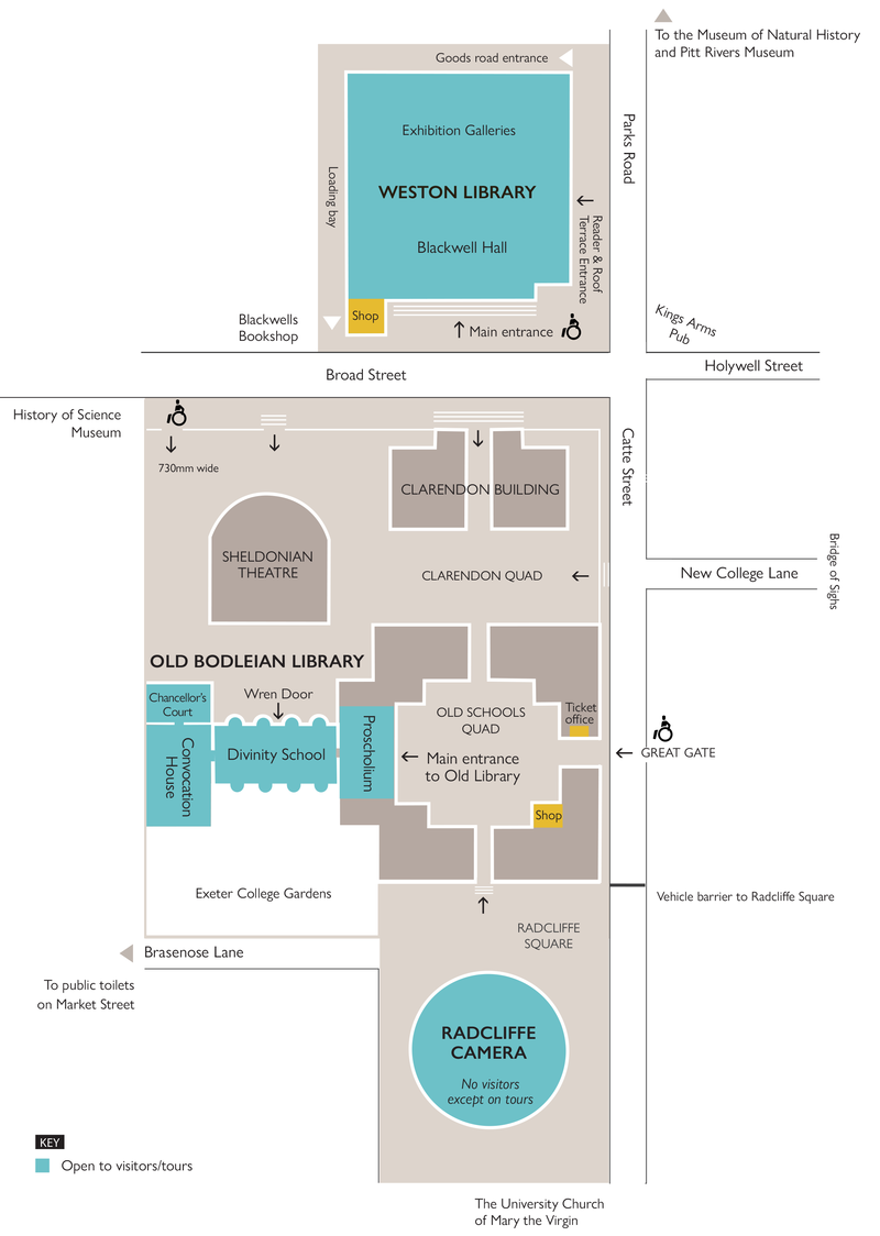 Bodleian site map