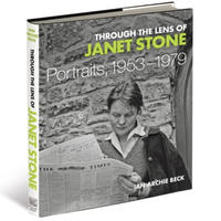 A book cover - the title sits over a black and white photograph of a young woman reading a newspaper